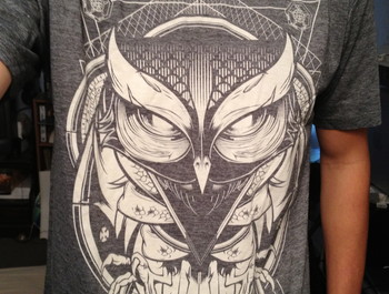 knolio wearing Limited Edition - Alchemy Owl by Hydro74