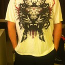 bennz wearing Predator ink blot by buko