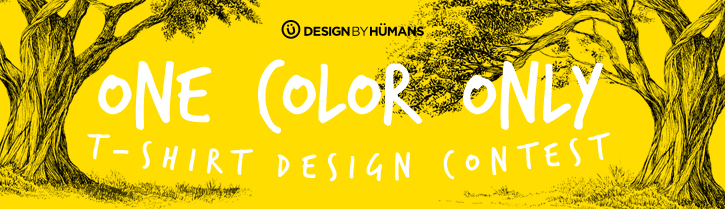 Win $1500 in the One Color T Shirt Design Contest