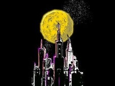Yellow Moonlight T-Shirt Design by
