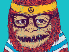 Hipster Monster T-Shirt Design by