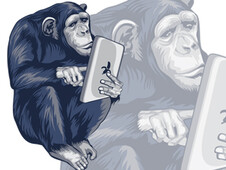 Smart Chimpanzee T-Shirt Design by