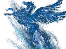 Blue Pegasus T-Shirt Design by