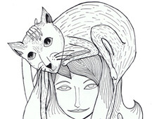 Cat-Lady T-Shirt Design by