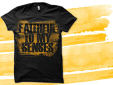 Faithful To My Senses T-Shirt Design by