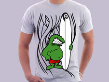 Monster Surfer T-Shirt Design by