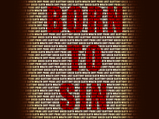 Born to Sin T-Shirt Design by
