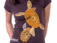 Oaxacan Turtles Gold T-Shirt Design by