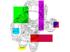 Abstract Astronaut T-Shirt Design by