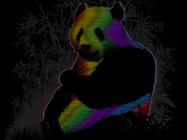 panda in Technicolor