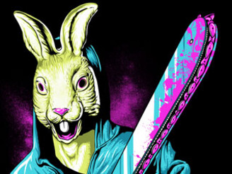 Rabbit With A Chainsaw by SLHdesign