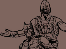Bane, Bat and Cat T-Shirt Design by