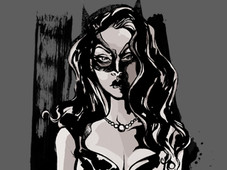 Shadow of The Catwoman T-Shirt Design by