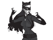 Catwoman On The Prowl T-Shirt Design by