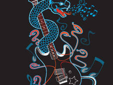 6 Strings of Venom! T-Shirt Design by