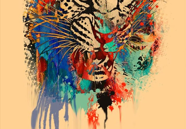 leopard in abstract