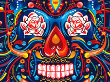 Mexican Skull T-Shirt Design by
