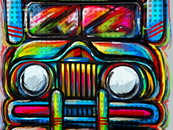 wholovesart wearing jeepney joyride by gansworks