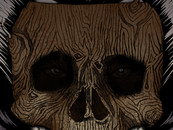 TSOSD wearing skull-wood-mask by sebasebi