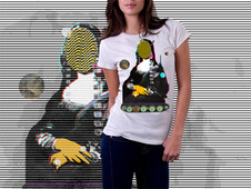 Mona Lisa StreetPopArt - Demons Night II T-Shirt Design by
