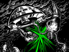 Space, Invaded T-Shirt Design by