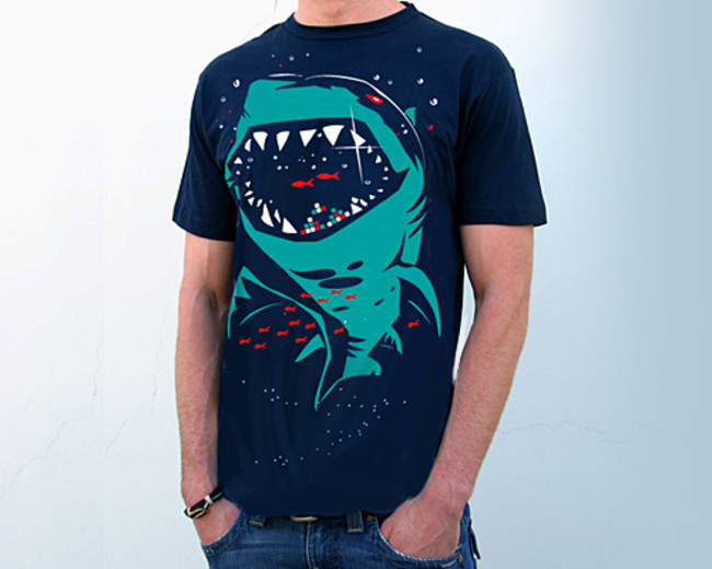 Shark with pixelated teeth!