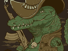 the crocodile hunter T-Shirt Design by