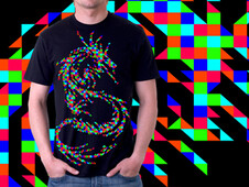Dragon Pixel T-Shirt Design by