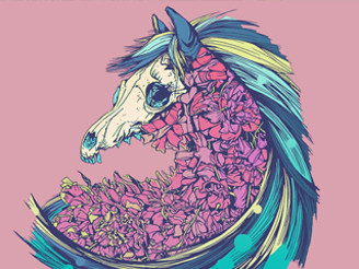 Beautiful Horse Pink by dvdesign