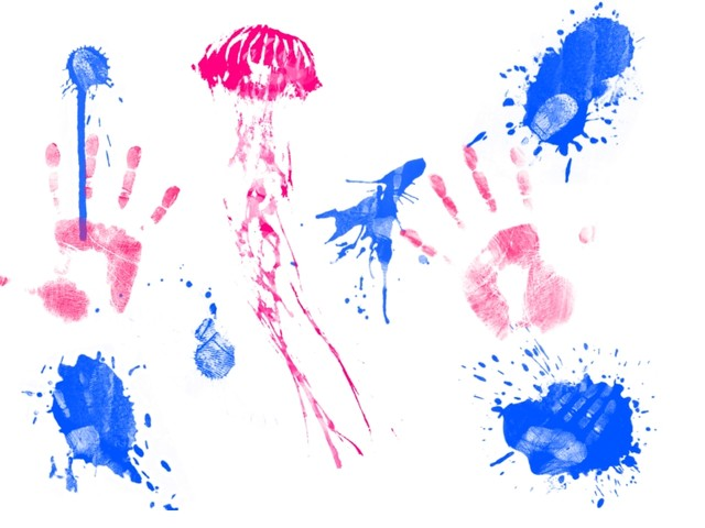 Fingerpainted Jellyfish