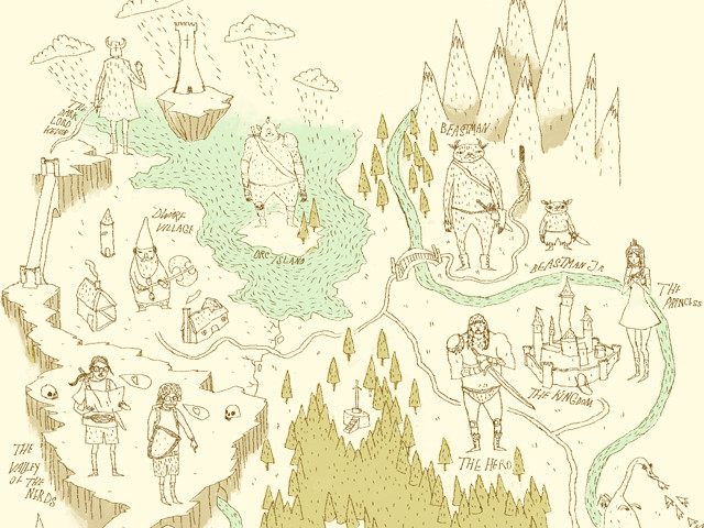 fantasy world map.
