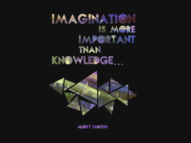 Imagination vs. Knowledge (in purple)