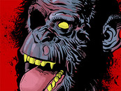 ZOMBIE CHIMP by chakoman