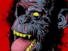 ZOMBIE CHIMP T-Shirt Design by