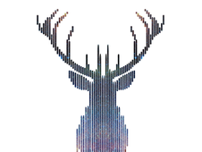 Minimal Deer T-Shirt Design by