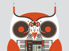Owl DJ T-Shirt Design by