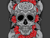 hellVETICA87 wearing Dia de los Muertos (Day of the Dead) by jonito