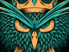 ANGRY OWL! T-Shirt Design by