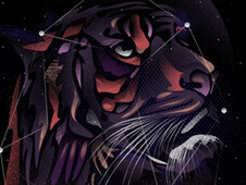 Cosmic Tiger T-Shirt Design by