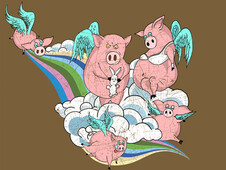 All pigs go to heaven T-Shirt Design by