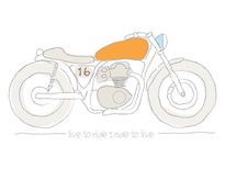 live to ride : ride to live T-Shirt Design by