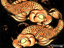 """The Koi"" T-Shirt Design by"