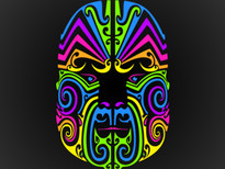 Techno Maori T-Shirt Design by