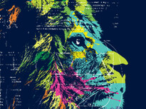 Lion Think T-Shirt Design by