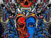 Tribal Skull by freedomdrawing