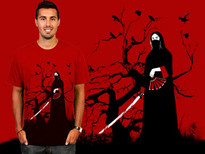 black samurai T-Shirt Design by