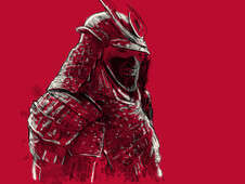 angry samurai T-Shirt Design by