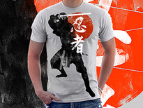Shinobi Ninja T-Shirt Design by