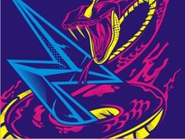 Lightning Serpent T-Shirt Design by
