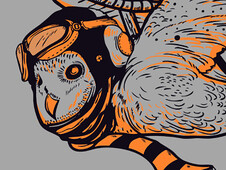 Owl Migration T-Shirt Design by